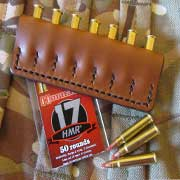 17 HMR leather bullet stalkers pouch