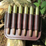 looped slide 30 06 leather bullet holder